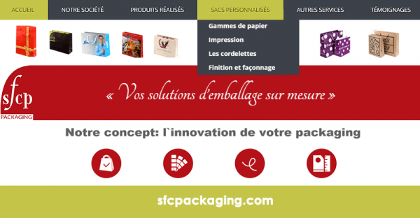 SFCP Packaging lance un site web emballant avec l'agence WebSamba MC